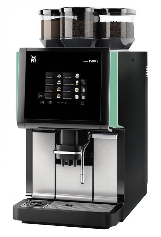 helautomatisk kaffemaskin wmf 1500 s 2 kvarnar basic milk kontrollbelysning hermelin handels. Black Bedroom Furniture Sets. Home Design Ideas