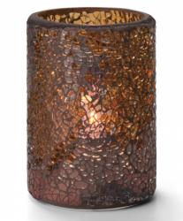 Crackle Glass cylinder lamp, Guld